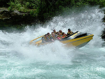 Photograph - Jet Boat On Rapids by Patricia Hofmeester