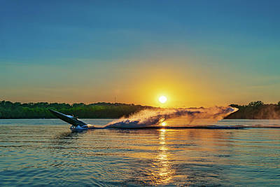 Photograph - Jet Boat Wheelie  by Robert FERD Frank