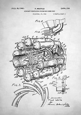 Digital Art - Jet Engine Patent by Taylan Apukovska
