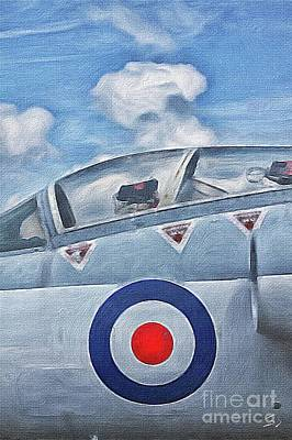 Plane Painting - Jet Fighter By John Springfield by John Springfield