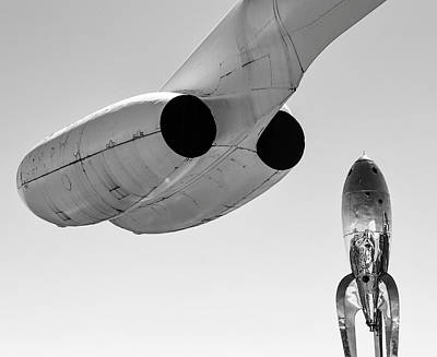 Photograph - Jet Plane And Rocket Ship by Rand