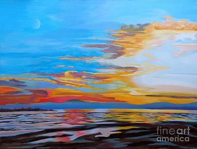 Bfa Painting - Jet Stream by Vanessa Hadady BFA MA