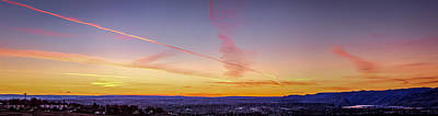 Chemtrails Photograph - Jet Trails In The Sinset by Brad Stinson