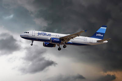 Airliners Photograph - Jetblue Airways Airbus A320-232 by Nichola Denny