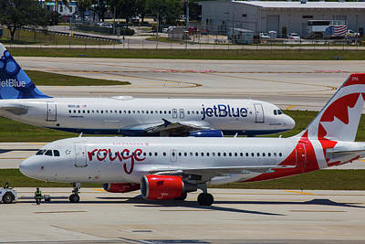 Photograph - Jetblue And Rouge Airliners by Dart Humeston