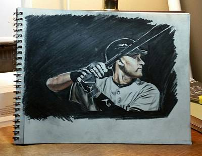 Derek Jeter Drawing - Jeter A Classic by Ryan Maloney