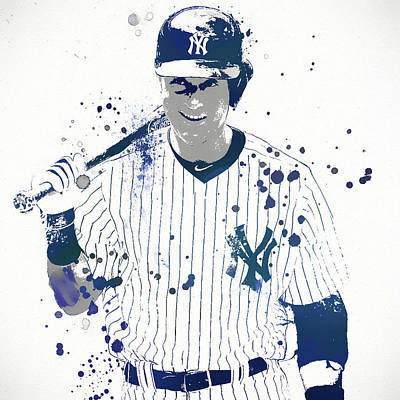 Sports Paintings - Jeter by Dan Sproul