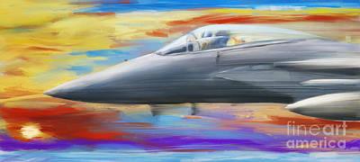 Digital Art - Jetfighter Speed by Jan Brons