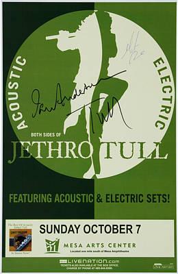 Jethro Tull Signed Poster Art Print