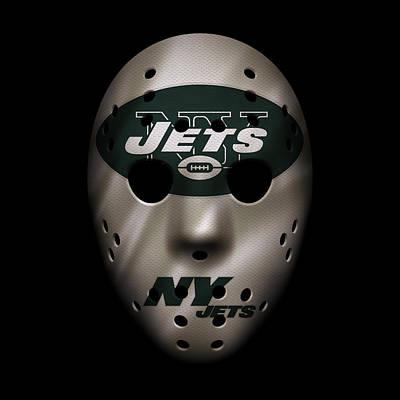 Jets War Mask Art Print