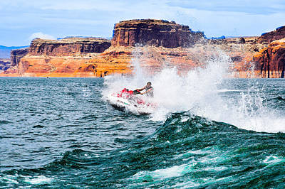 Photograph - Jet Ski At Lake Powell by Dany Lison