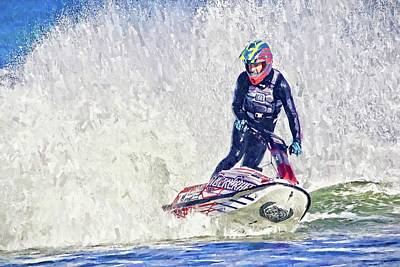Photograph - Jetski Spray by Alice Gipson