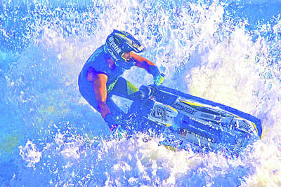 Photograph - Jetski Sprays by Alice Gipson