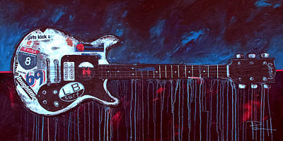 Music Paintings - Jett Engine by Sean Parnell