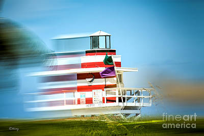 Photograph - Jetty 1 Lighthouse And Lifeguard Stand by Rene Triay Photography