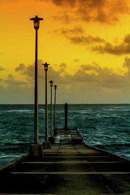 Jetty At Sunrise Art Print