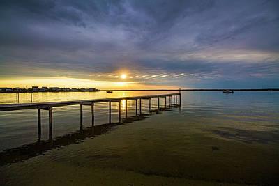 Photograph - Jetty Four Bayside Sunset by Robert Seifert