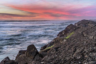 Photograph - Jetty Into The Embers Of Dusk by Greg Nyquist