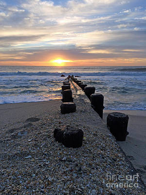 Photograph - Jetty Sunrise I by Mary Haber