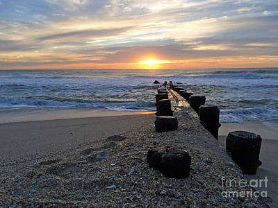 Photograph - Jetty Sunrise II by Mary Haber