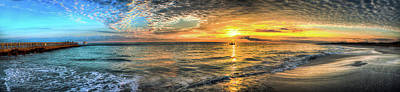 Jetty Sunrise Panorama Art Print