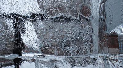 Jeu De Glace I / Ice Puzzle I Print by Dominique Fortier