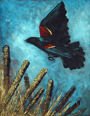 Painting - Jewel Among The Cattails by Suzanne McKee