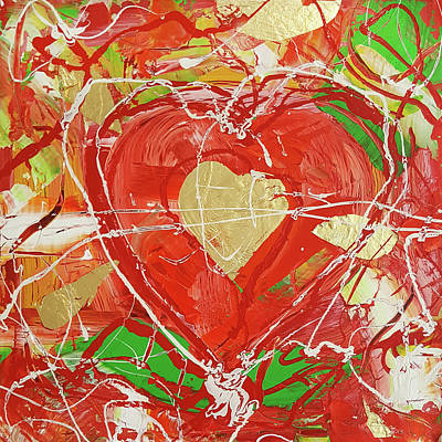 Painting - Jewel Heart by Martin Bush