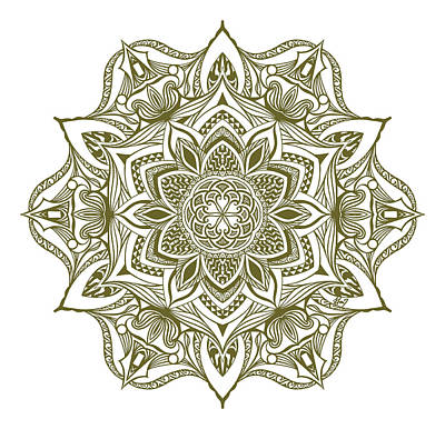 Jewel Mandala Original by Beltolls Art