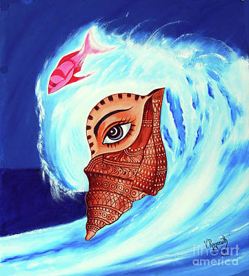 Painting - Jewel Of Shell by Ragunath Venkatraman