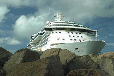 Photograph - Jewel Of The Seas On The Rocks by Living Color Photography Lorraine Lynch