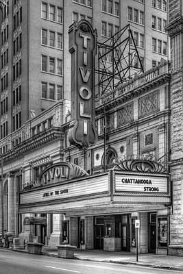 Photograph - Jewel Of The South B W Historic Tivoli Theater Chattanooga Tennessee Art by Reid Callaway