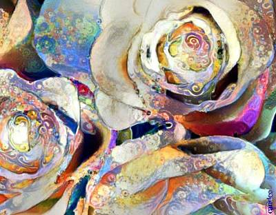 Impressionist Mixed Media - Jewel Rose by Candee Lucas