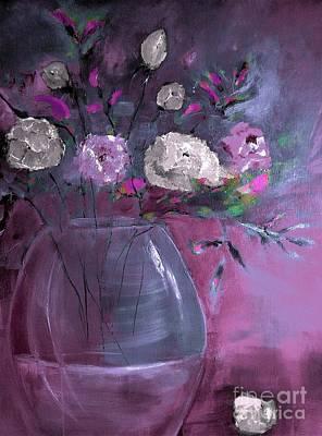 Digital Art - Jewel Tone Rose Arrangement Painting by Lisa Kaiser