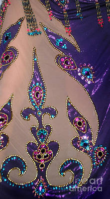Belly Beads Photograph - Jeweled Beadwork Sample 01 by Sofia Metal Queen