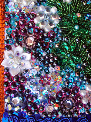 Beadwork Mixed Media - Jeweled Beadwork - Summer Garden 5 by Sofia Metal Queen