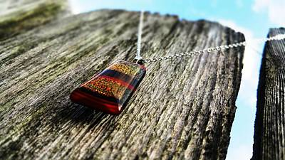 Wood Necklace Photograph - Jeweled Fences by T Cole