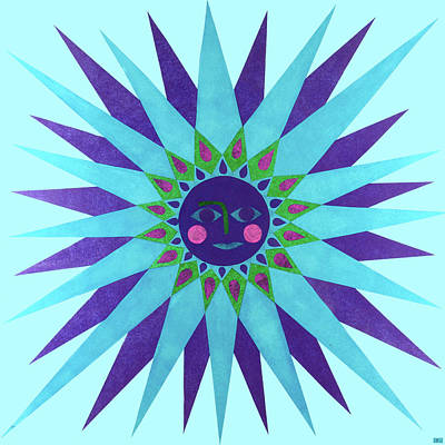 Mixed Media - Jeweled Sun by Kristy Hansen