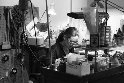 Photograph - Jeweler At Work by Polly Castor