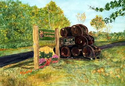 Painting - Jewell Towne Vineyard by Anne Sands