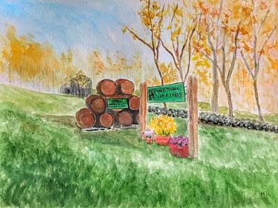 Painting - Jewell Towne Vineyards by Anne Sands