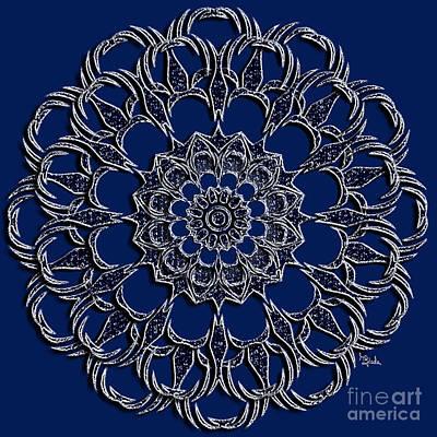 Jewellery Design - Silverblue Mandala By Rgiada  Print by Giada Rossi