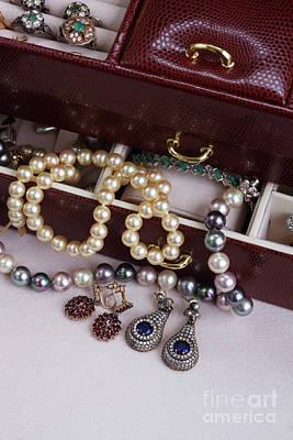 Earring Set Photograph - Jewellery In Box by Anastasy Yarmolovich