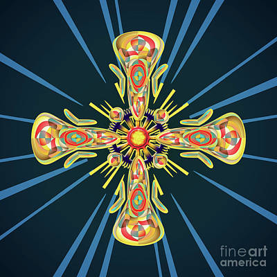 Spiritual Jewelry Digital Art - Jewelry Cross by Gaspar Avila