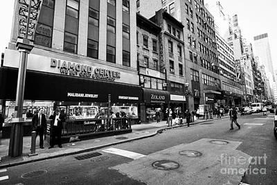 jewelry shops in the diamond district midtown manhattan New York City USA Art Print