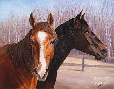 Danielle Smith Painting - Jewels And Hollyberry by Danielle Smith