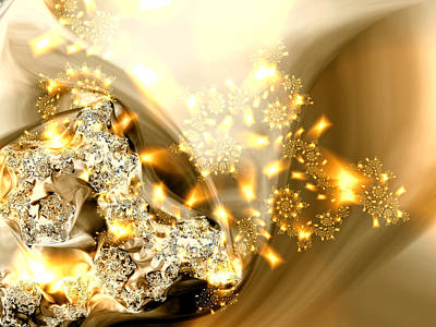 Digital Art - Jewels And Satin by Claire Bull