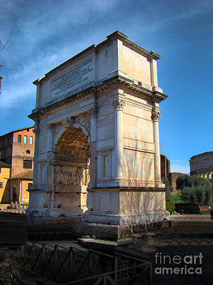 Jewish Arch - Arch Of Titus - Rome - Italy Print by Al Bourassa