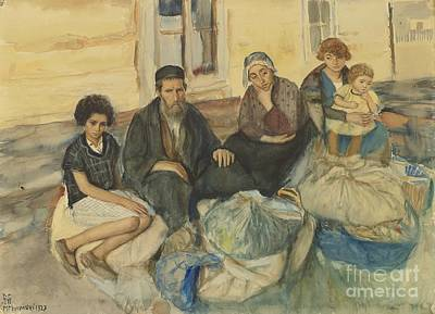 Family Painting - Jewish Immigrant Family by Celestial Images