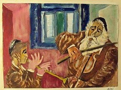 Drawing - Jewish Music by Mimi Eskenazi